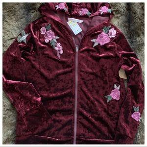 Velvet maroon jacket